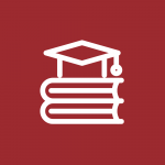 icon of mortar board on books to represent link to other systems help page